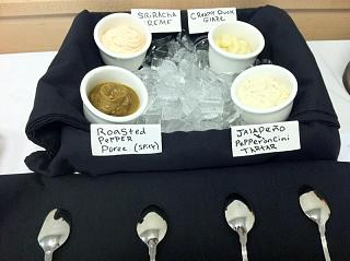 Click image for larger version  Name:Sauce bar for the dishes served on platter.jpg Views:318 Size:56.3 KB ID:10642