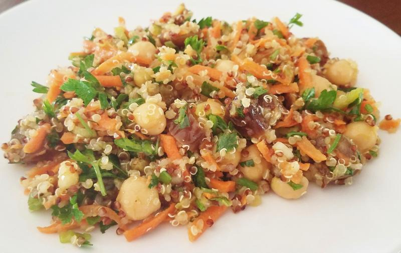 Click image for larger version  Name:quinoa, garbanzo, date, and veggie salad.jpg Views:134 Size:60.0 KB ID:30445