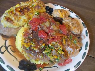 Click image for larger version  Name:Osso Bucco, Twice-Baked Russet, Stuffed 'Shrooms.jpg Views:19 Size:79.5 KB ID:32995