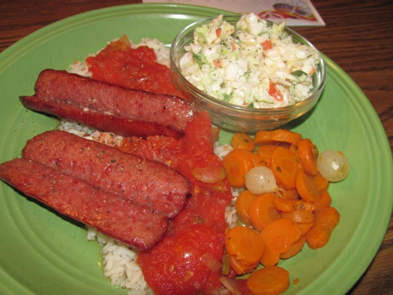 Click image for larger version  Name:Brats, Stewes Yomatoes over Rice.jpg Views:15 Size:64.4 KB ID:33370