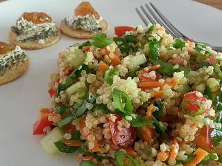 Click image for larger version  Name:quinoa and veggie salad with herbed goat cheese and fig jam.jpg Views:77 Size:71.1 KB ID:33816