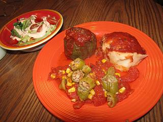 Click image for larger version  Name:Stuffed Pepper, Okra.jpg Views:36 Size:75.8 KB ID:34848