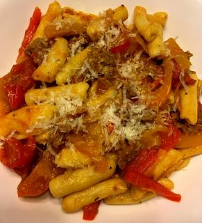 Click image for larger version  Name:cavatelli_sausage_peppers_tomato_072419_IMG_6045.jpg Views:267 Size:51.7 KB ID:35761