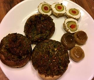 Click image for larger version  Name:Thanksgiving_appy__stuffed_mushrooms_112819_1_IMG_6451.jpg Views:23 Size:88.9 KB ID:37594