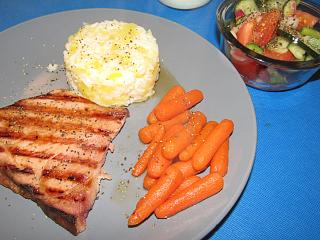 Click image for larger version  Name:Ham Steak, Grilled, Pineapple Rice, Honeyed Carrots.jpg Views:47 Size:76.0 KB ID:38255