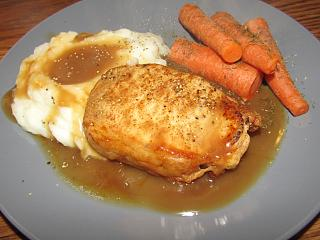 Click image for larger version  Name:Pork Loin, Roasted Garlic Mash, Dilled Carrots.jpg Views:24 Size:57.0 KB ID:38814
