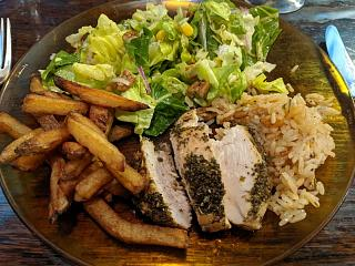 Click image for larger version  Name:Roasted, herb marinated chicken, salad, duck fat fried French fries, pilaf.jpg Views:7 Size:144.6 KB ID:47079