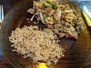 Click image for larger version  Name:Brown rice with stir fried pork and vegis.jpg Views:7 Size:108.1 KB ID:47255