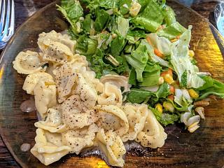 Click image for larger version  Name:Tortellini in butter & sage sauce and a salad with vinaigrette.jpg Views:15 Size:151.5 KB ID:47266