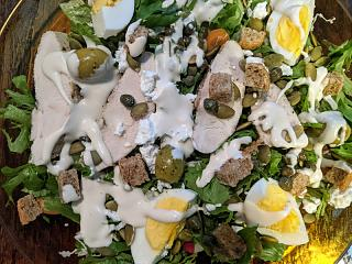 Click image for larger version  Name:Salad with chicken, hard cooked eggs, Feta, and ranchoid dressing.jpg Views:13 Size:86.6 KB ID:47995
