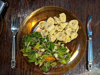 Click image for larger version  Name:Tortellini in an Alfredo sauce and salad with homemade vinaigrette.jpg Views:14 Size:144.7 KB ID:48930